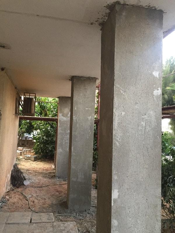 חיזוק ועיבוי עמודי בניין